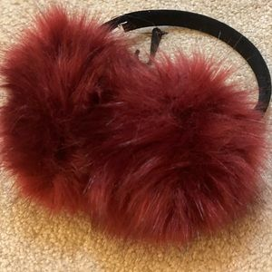 NWOT red and black Winter Ear Muffs